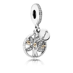 Pandora 791728CZ Charm-Anhänger Sparkling Family Tree Silber-Gold