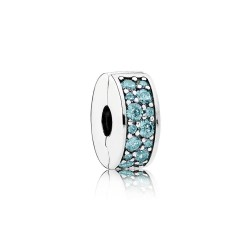 Pandora 791817MCZ Charm Clip Petrolfarben Sterling Silber