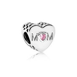 Pandora 791881PCZ Charm Mutterliebe Mum Herz Sterling-Silber