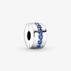 Pandora 791972C01 Clip-Charm Damen Blau Funkelnd Silber