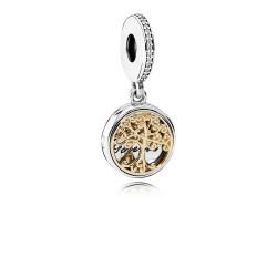 Pandora 791988CZ Charm-Anhänger Vintage Familien Stammbaum Silber-Gold
