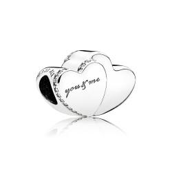 Pandora 796560CZ Charm Zwei Herzen
