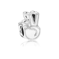 Pandora 797215 Charm Symbol Of Peace Silber