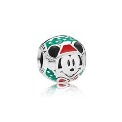 Pandora Disney 797502ENMX Original Charm Santa Mickey Sterling-Silber