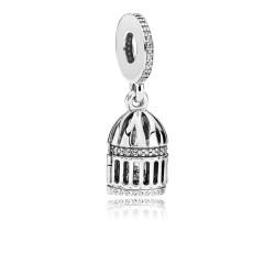 Pandora 797575CZ Charm-Anhänger Free As A Bird Sterling-Silber