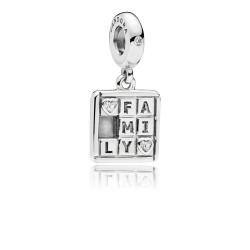 Pandora 797626CZ Charm-Anhänger Family Game Sterling-Silber