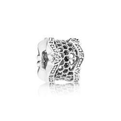 Pandora 797653 Charm Spacer Zwischenelement Lace Of Love Silber Zirkonia