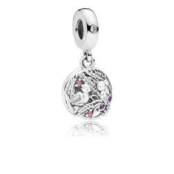Pandora 797671CZRMX Charm-Anhänger Always By Your Side Maus Vogel Sterling-Silber
