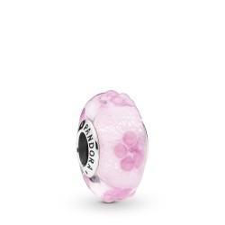 Pandora 797901 Charm Pink Flower Murano-Glas Silber