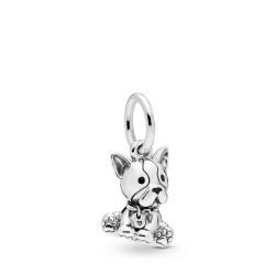 Pandora 7980008EN16 Charm-Anhänger Bulldog Puppy Sterling-Silber