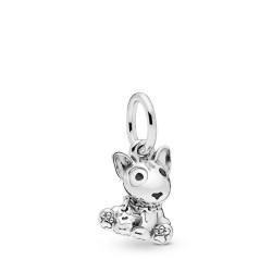 Pandora 798010EN16 Charm-Anhänger Bull Terrier Puppy Sterling-Silber