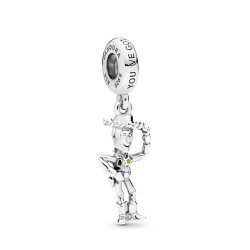 Panodra Disney Pixar 798041ENMX Charm-Anhänger Toy Story Woody Silber