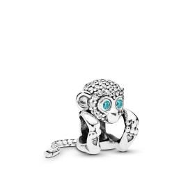 Pandora 798054CZ Charm Sparkling Monkey Sterling-Silber