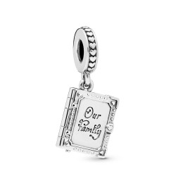 Pandora 798105 Charm-Anhänger Family Book Sterling-Silber