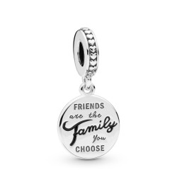 Pandora 798124EN16 Charm-Anhänger Friends are Family Sterling-Silber