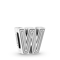 Pandora Reflexions 798219 Charm Clip Letter W Sterling-Silber