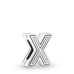 Pandora Reflexions 798220 Charm Clip Letter X Sterling-Silber