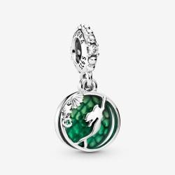 Pandora Disney 798231CZ Charm-Anhänger Arielle Weiss Grün Silber