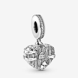 Pandora 798284CZ Charm-Anhänger Home Sweet Heart Sterling-Silber