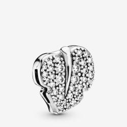 Pandora Reflexion 798293CZ Charm Clip Sparkling Leaf Weiss Sterling-Silber