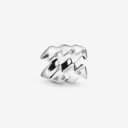 Pandora 798415C01 Charm Damen Funkelnder Wassermann Sterling-Silber