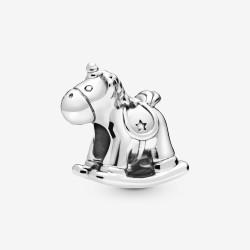 Pandora 798437C00 Charm Bruno das Einhorn Schaukelpferd Sterling-Silber