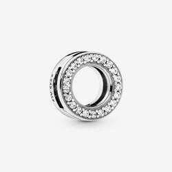 Pandora Reflexions 798600C01 Clip-Charm Damen Pavé-Kreis Silber