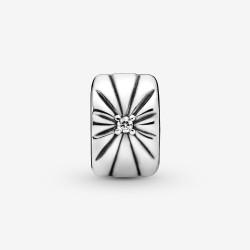Pandora 798614C01 Charm Clip Damen Funkelnder Sonnenstrahl Sterling-Silber