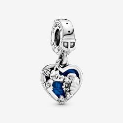 Pandora Disney 798634C01 Charm-Anhänger Damen Susi und Strolch Herz Silber