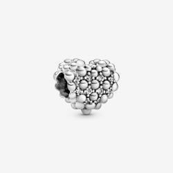 Pandora 798681C01 Charm Funkelndes Metallperlen Herz Zirkonia Silber