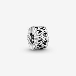 Pandora 798694C00 Charm Zwischenelement Offen Freihand-Herz Silber