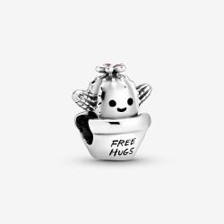 Pandora 798786C01 Charm Free Hugs Kaktus Silber