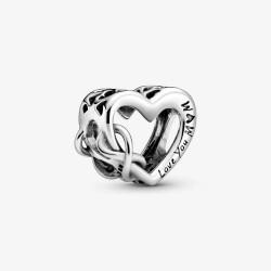 Pandora 798825C00 Charm Unendlichkeits-Herz Love You Mum Silber