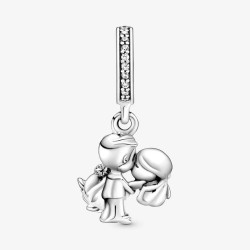 Pandora 798896C01 Charm-Anhänger Verheiratetes Paar Silber