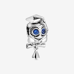 Pandora 798907C01 Charm Weise Eule Schulabschluss Silber