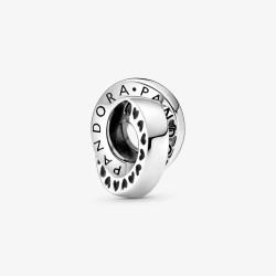 Pandora 799035C00 Charm Zwischenelement Logo & Herzband Silber