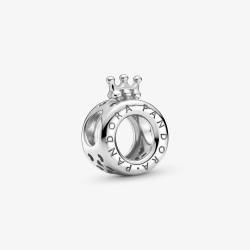 Pandora 799036C00 Charm Logo & Crown O Charm Silber