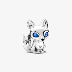 Pandora 799096C01 Charm Damen Blauäugiger Fuchs Sterling-Silber