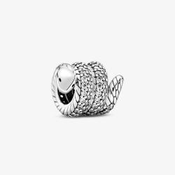 Pandora 799099C01 Charm Funkelnde Zusammengerollte Schlange Silber