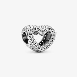 Pandora 799100C01 Chram Schlangengliedermuster Offenes Herz Silber