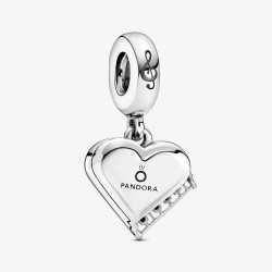 Pandora 799101C01 Charm-Anhänger Damen Piano Herz Silber
