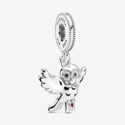 Pandora Harry Potter 799123C01 Charm-Anhänger Eule Hedwig