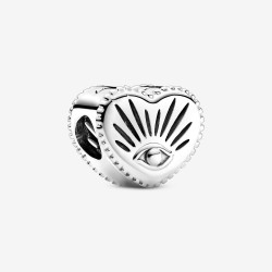 Pandora 799179C00 Charm Auge der Vorsehung & Herz Silber