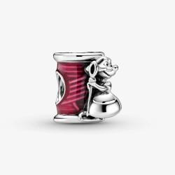 Pandora Disney 799200C01 Charm Cinderella Suzy Maus Nadel und Faden Silber