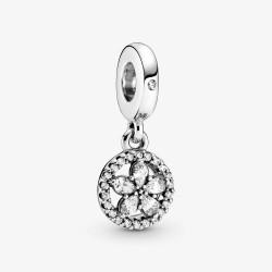Pandora 799222C01 Charm-Anhänger Funkelnder Schneeflocke Kreis Silber