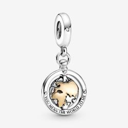 Pandora Shine 799303C01 Charm-Anhänger Drehende Welt Silber
