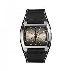 Guess 80352G4 Herren-Uhr In Transit Analog Quarz mit Leder-Band Ø 47 mm