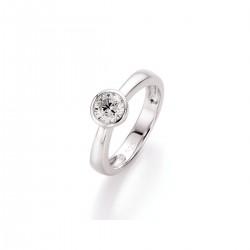 Karat 93001893540 Ring Damen Zirkonia Brillantschliff Silber Gr. 54