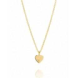 Karat 99033250450 Kette mit Anhänger Damen Herz 585/- Gelb-Gold 1 Diamant