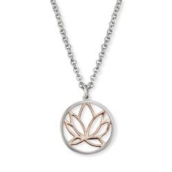 Engelsrufer ERN-LILLOTUS-BI Kette mit Anhänger Lotus Silber Rosé